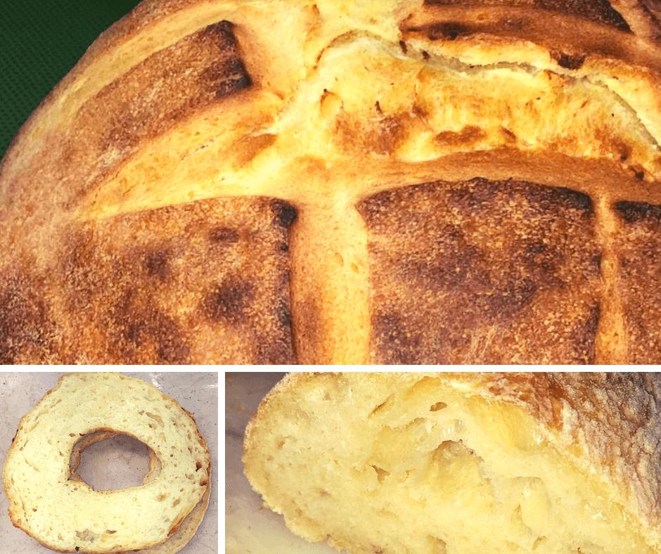 pane di semola con patate collage